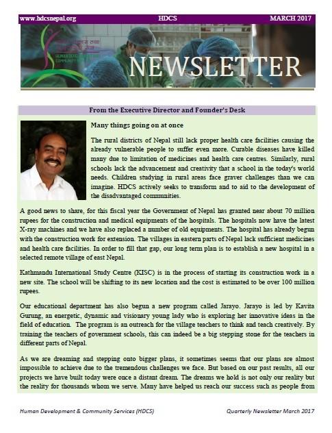 Newsletter, March